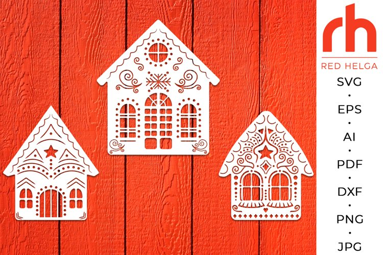 Gingerbread house svg - Christmas decoration svg