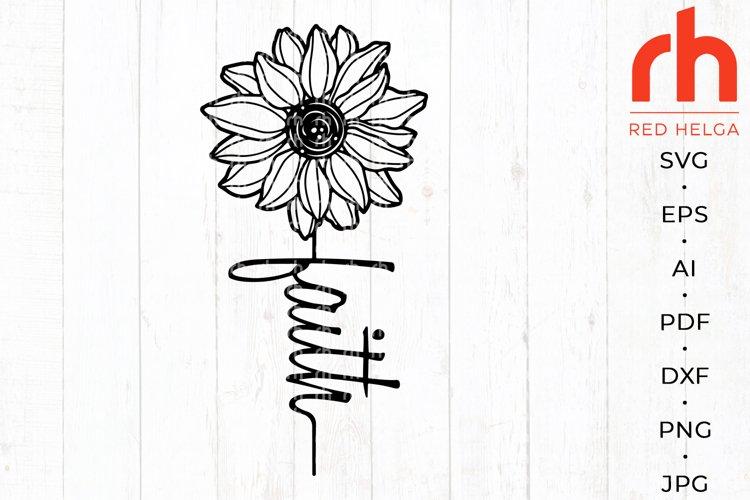 Faith cross svg - Sunflower faith svg - Christian shirt svg