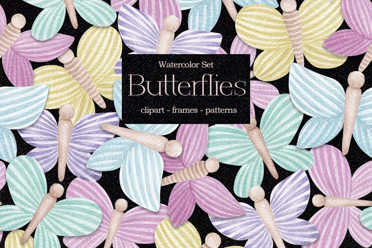 "Watercolor Set ""Butterflies"" example image 1"