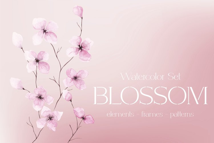 """Watercolor Set """"Blossom"""" example image 1"""