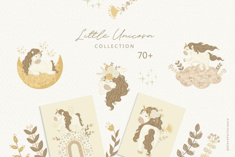 Little Unicorn clipart, rainbow png, nursery clipart,