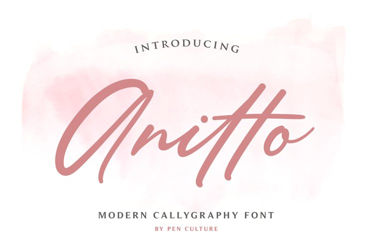 Anitto - Calligraphy Font example image 1