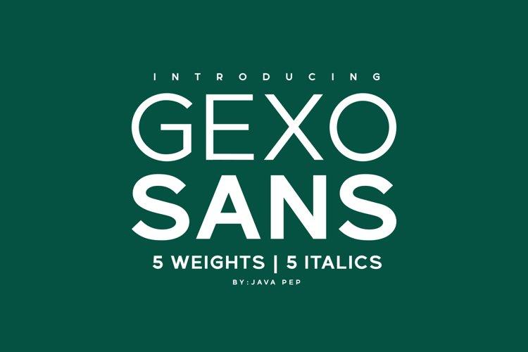Gexo Sans - Elegant Sans example image 1