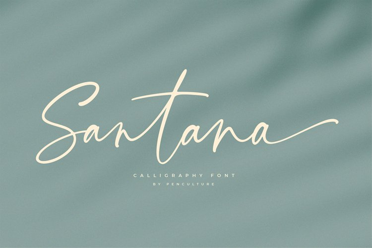 Santana Calligraphy Font example image 1