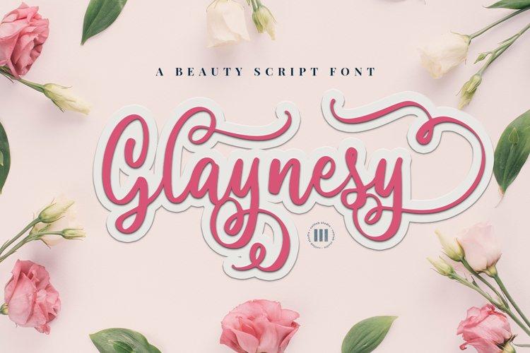Glaynesy- A Beauty Script Font example image 1