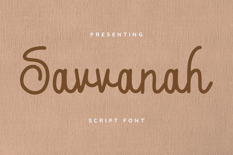 Savannah Font example image 1
