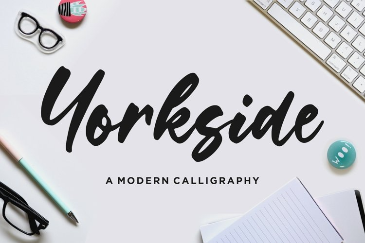Yorkside Modern Calligraphy Font example image 1