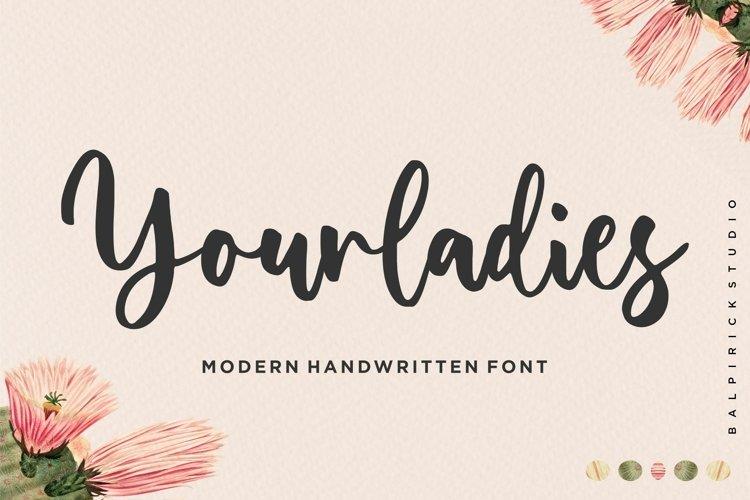 Yourladies Modern Handwritten Font example image 1