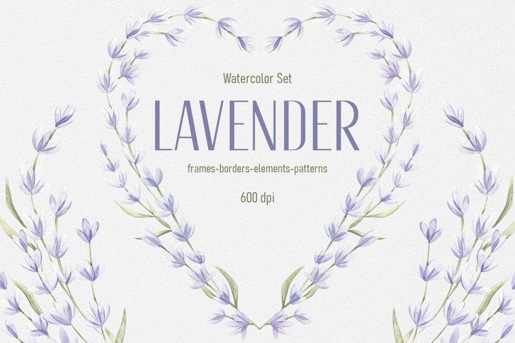 "Watercolor Set ""Lavender"" example image 1"
