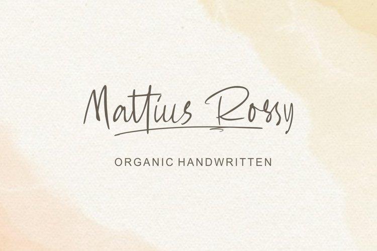 Mattius Rossy example image 1