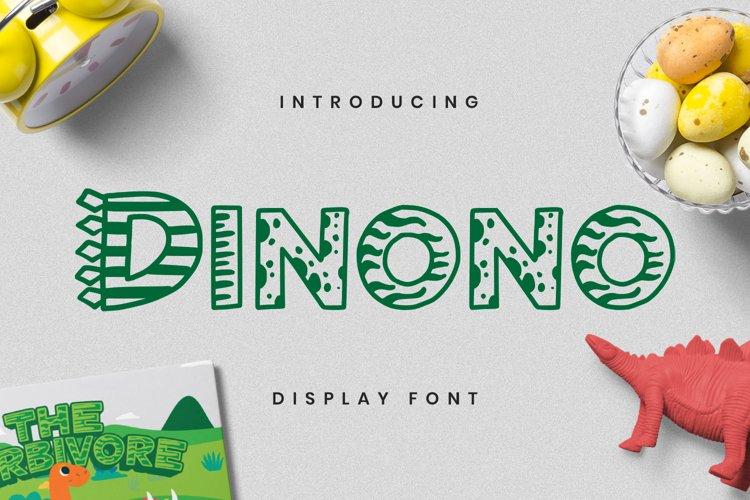 Dinono Font example image 1