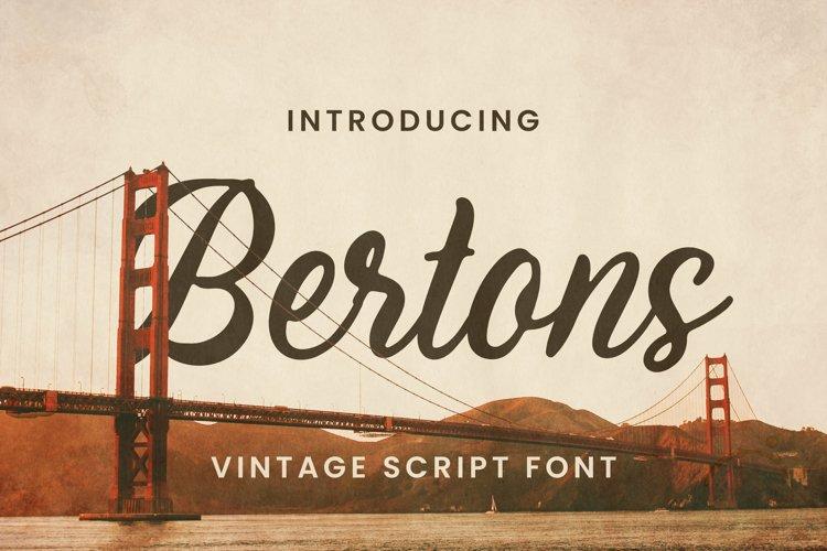 Bertons Font example image 1