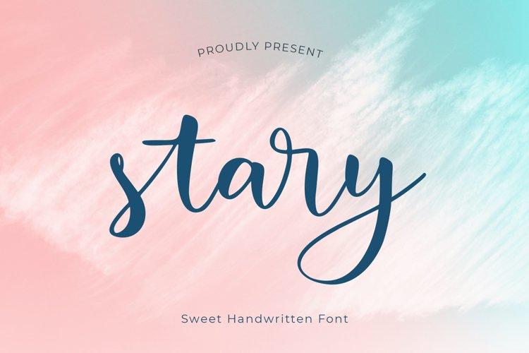 stary is a sweet handwritten