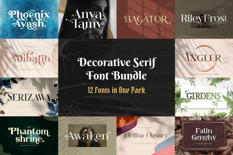 Decorative Serif Font Bundle example image 1