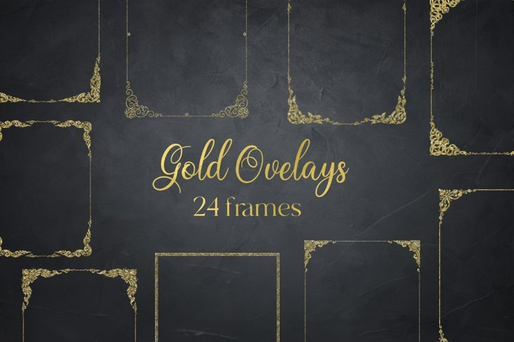Gold Glitter Frames, Photo Effects example image 1