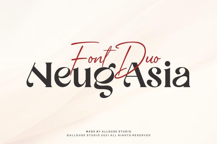 Web Font - Neug Asia - Two Styles example image 1