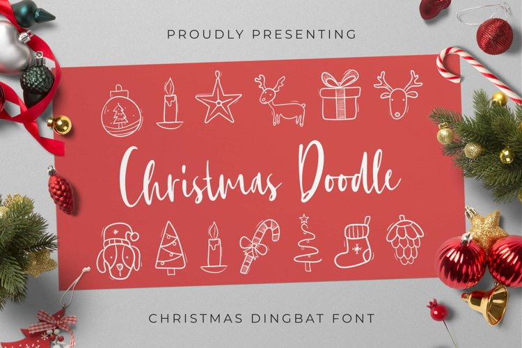 Christmas Doodle Font example image 1