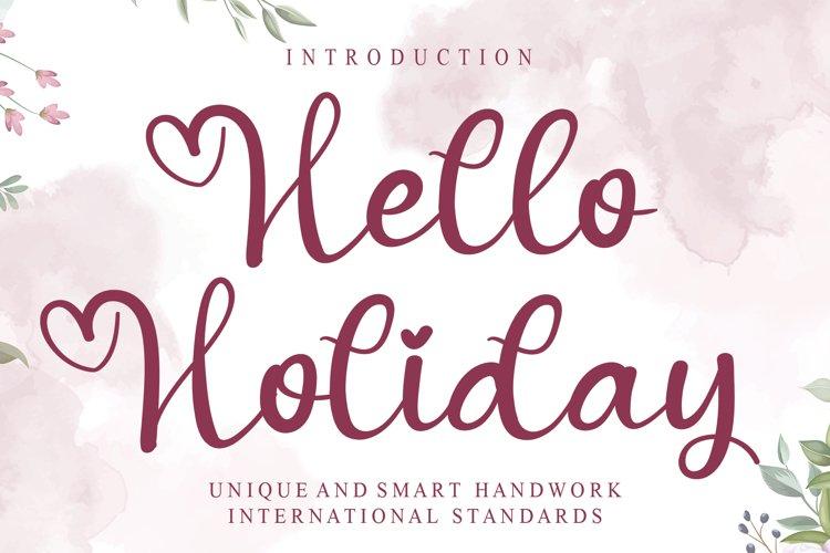Hello Holiday example image 1