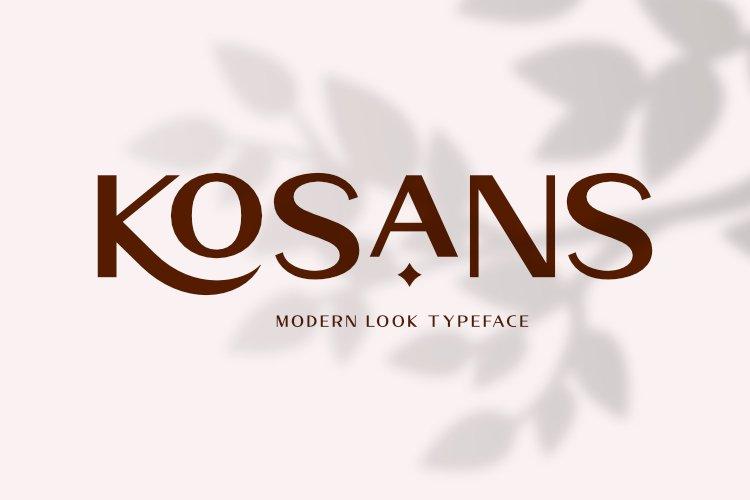Kosans - Modern Look Typeface example image 1