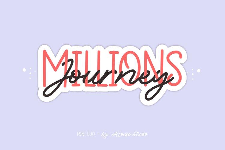 Web Font - Millions Journey - Font Duo example image 1