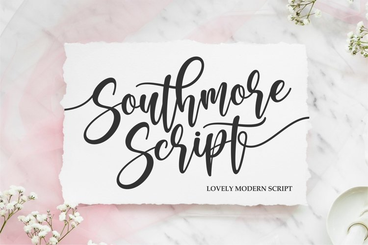 Southmore | Lovely Modern Script example image 1