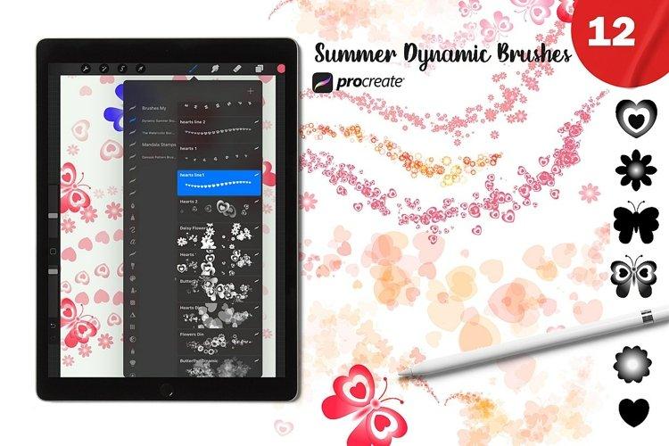 Procreate Summer Dynamic Brush set 12