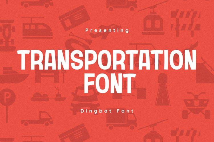 Transportation Font example image 1