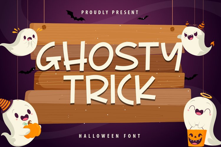 Ghosty Trick - Halloween Font example image 1