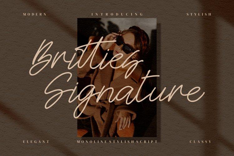 Britties Signature - Monoline Signature example image 1