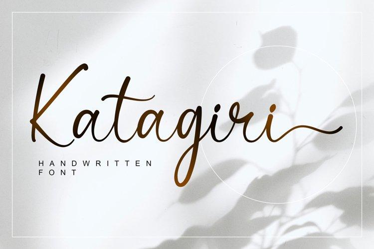 Katagiri - Handwritten Font