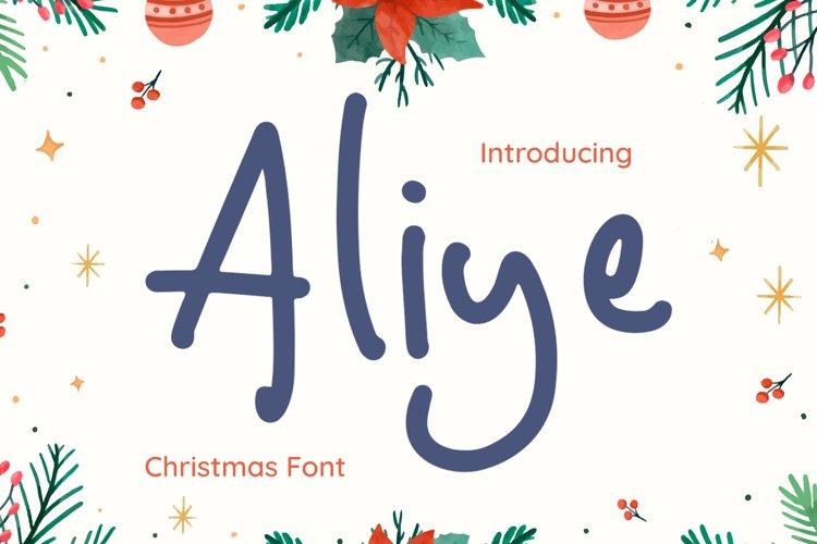 Aliye Font example image 1