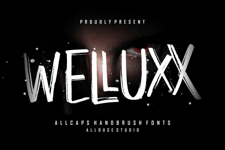 WELLUXX - Allcaps Handbrush Font example image 1