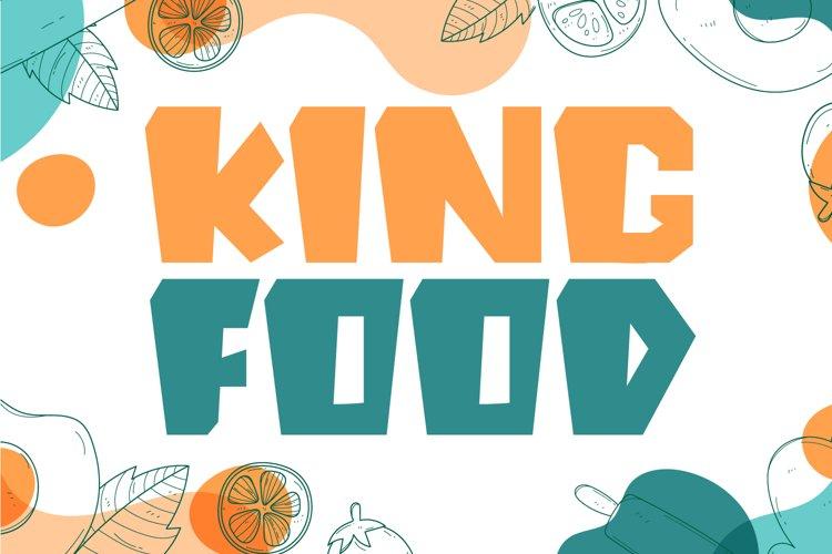 King Food - Food Display Font example image 1