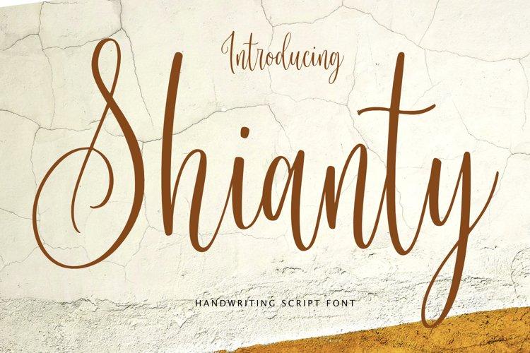 Shianty Script Handwritten
