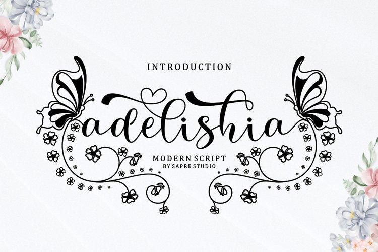 Adelishia Script example image 1