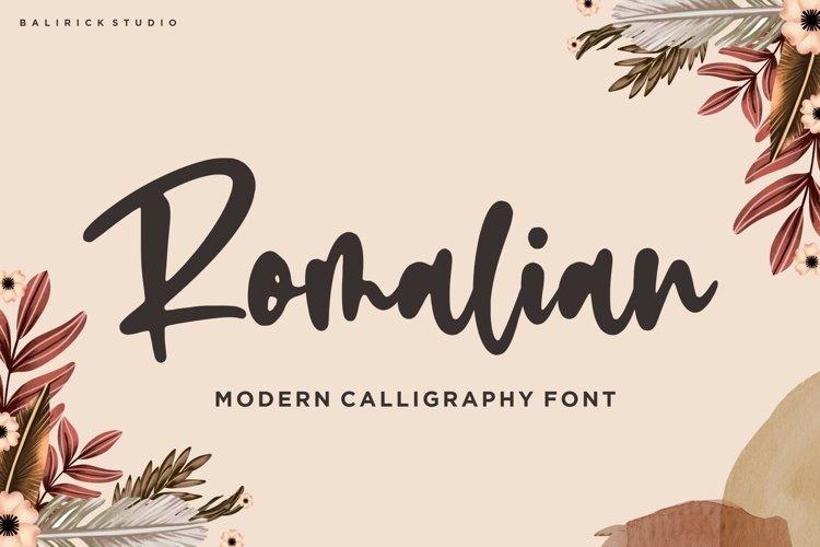 Romalian Modern Calligraphy Font example image 1