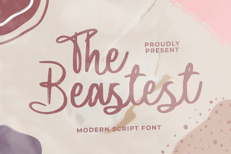The Beastest Font example image 1