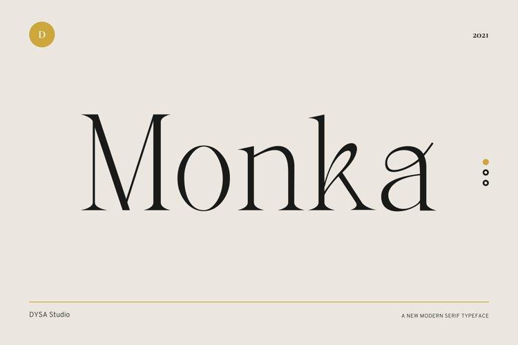 Monka - Modern Typeface example image 1