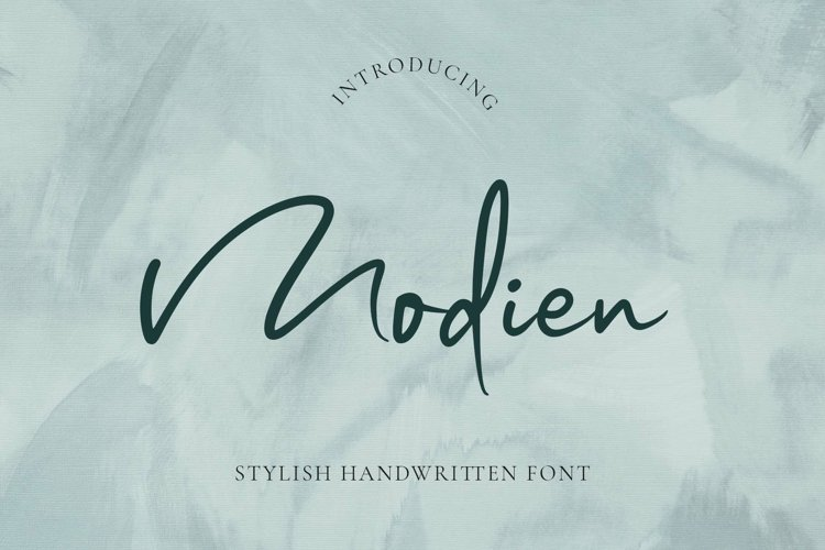 Modien - Stylish Handwritten Font example image 1