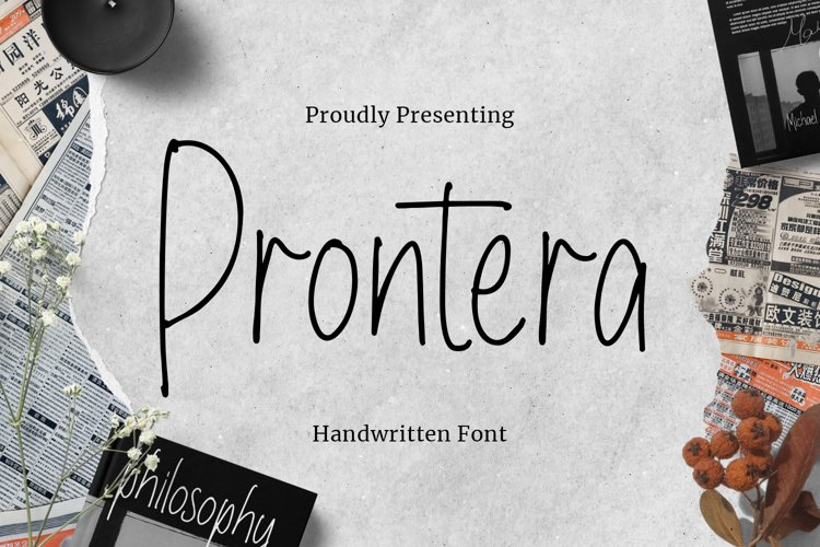 Prontera Font example image 1