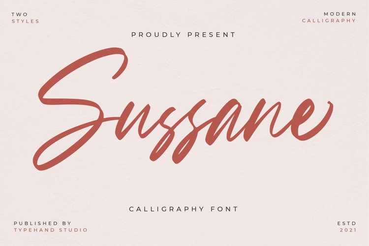Sussane - Two Style Calligraphy Font example image 1