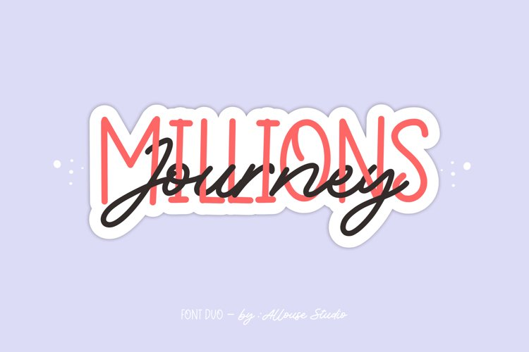 Millions Journey - Font Duo example image 1