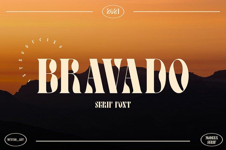 Bravado   Serif Display example image 1