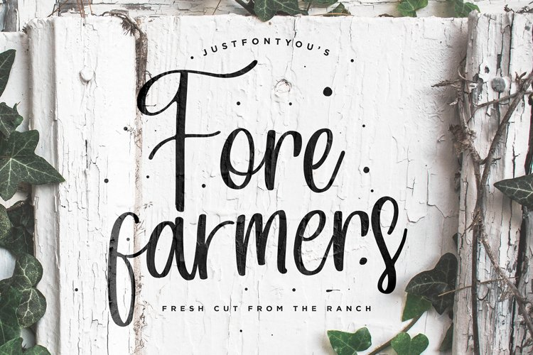 Forefarmers - Rustic Casual Vintage Fonts example image 1