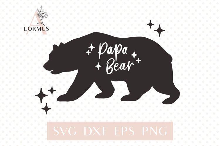 Papa bear svg, Fathers day svg, Bear family svg, Modern svg example image 1