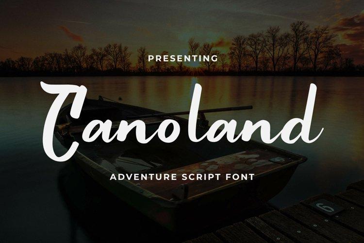 Canoland Font example image 1