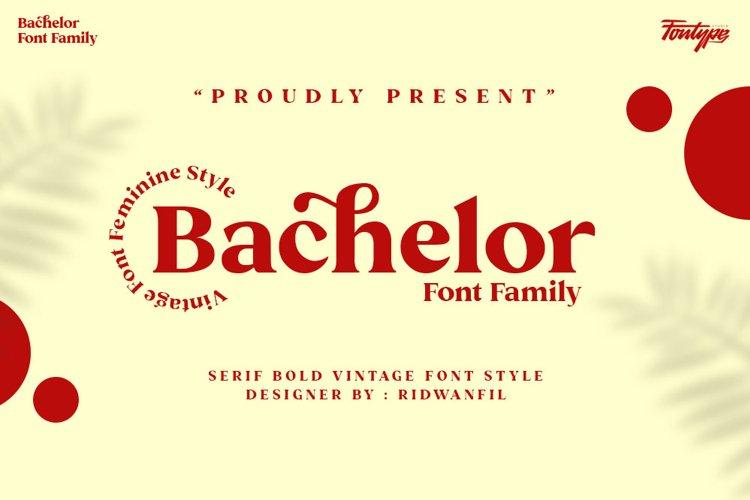 Bachelor Font Family - Vintage Bold Serif Font Feminine Styl