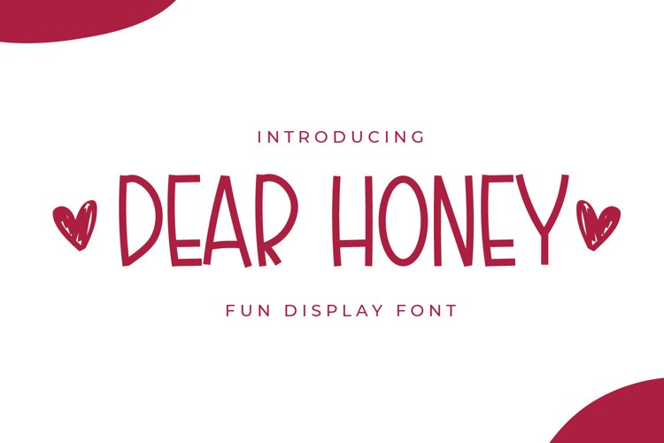 Dear Honey - Fun Display Font example image 1