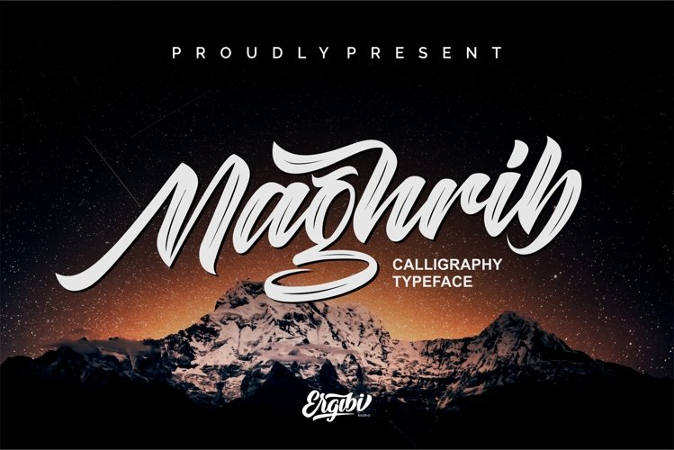 Maghrib - Calligraphy Typeface example image 1