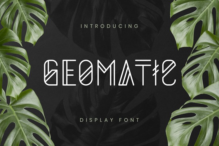 GEOMATIC Font example image 1